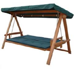 Dondolo Legno 3 posti reclinabile